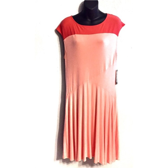 New York & Company Dresses & Skirts - NY & Company Pink & Coral Fit and Flare Dress